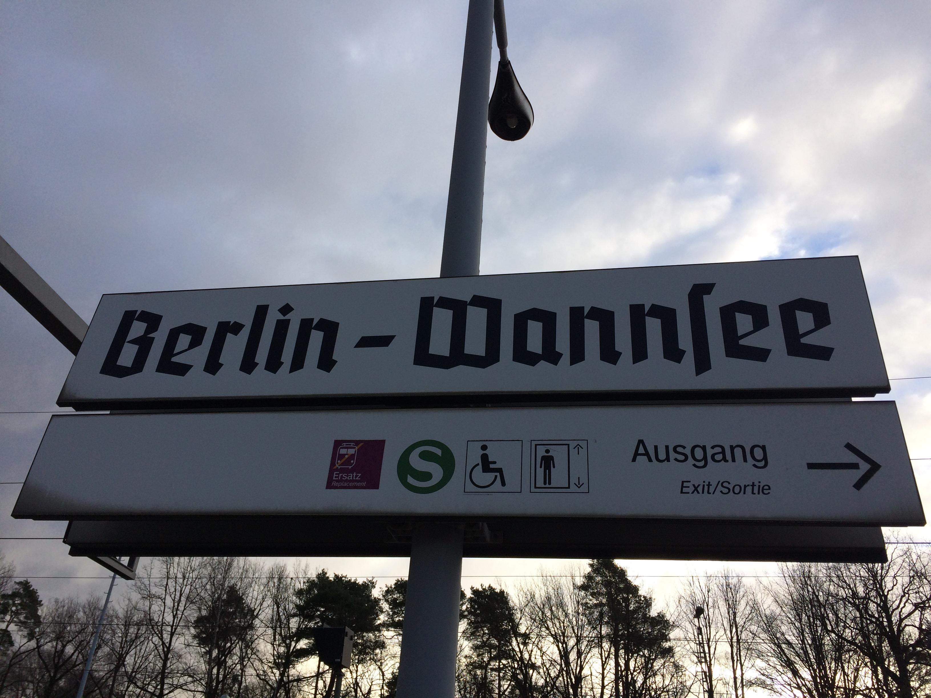 La stazione ferroviaria di Wannsee, alle porte di Berlino. Wannsee Museum. Lebensraum - Berlino 2017