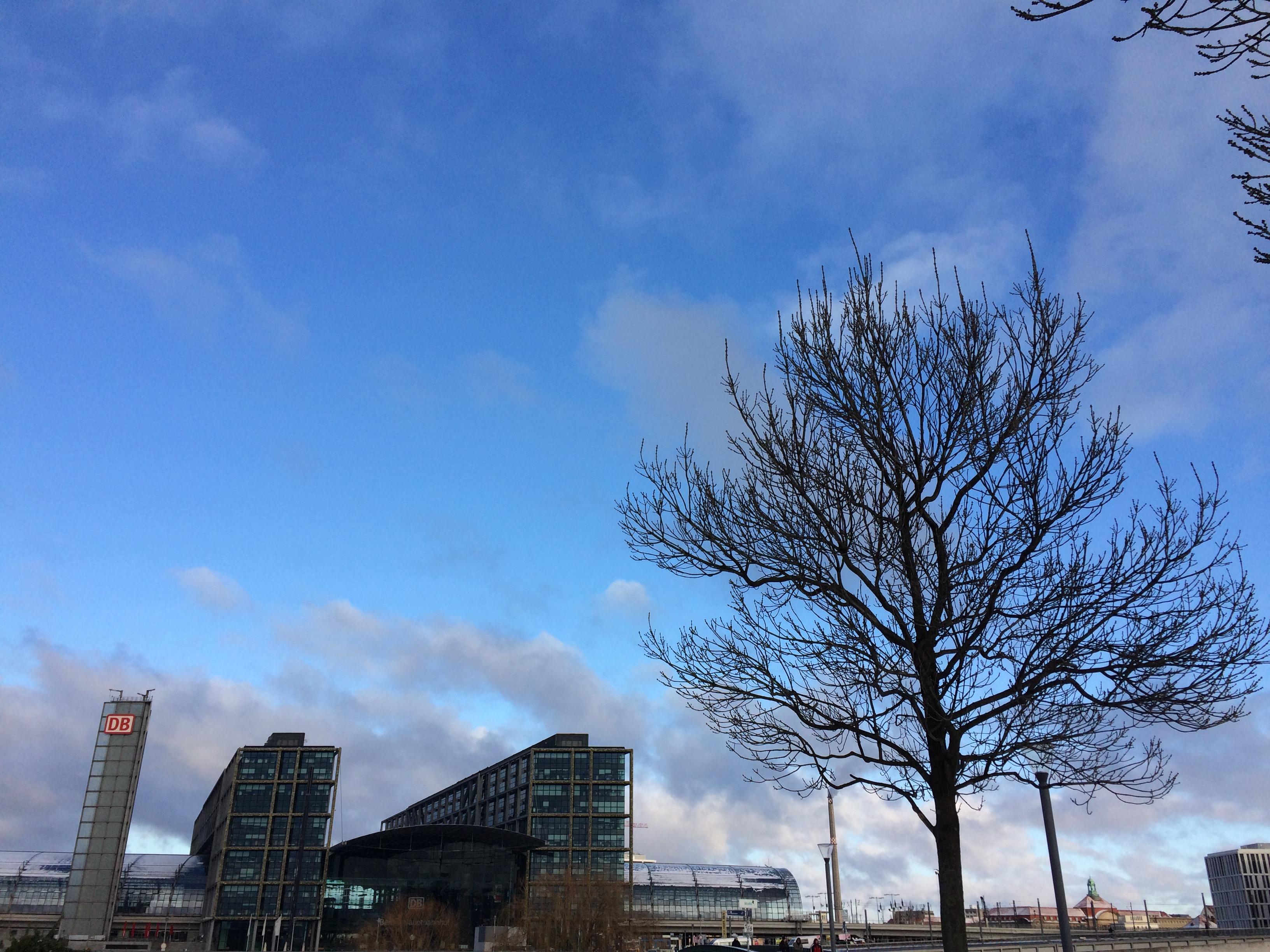 La Hauptbahnhof di Berlino in un gelido mattino di inizio gennaio. Lebensraum-Berlino 2017